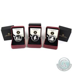 2011 Canada $10 Boreal Forest, Orca Whale & Peregrine Falcon Fine Silver Coins. 3pcs (TAX Exempt)