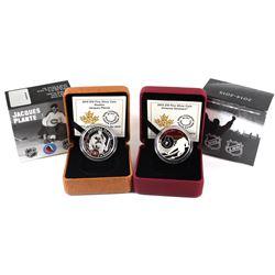 2015 Canada $10 Goalies: Jacques Plante & 2015 $10 Ottawa Senators Fine Silver Coins. 2pcs (TAX Exem