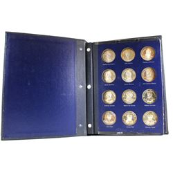 34.26oz of Silver;1970 Franklin Mint- Sterling Silver United States Presidential Medal Collection in