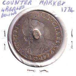Boliva Counter-marked 4 Reals 1774
