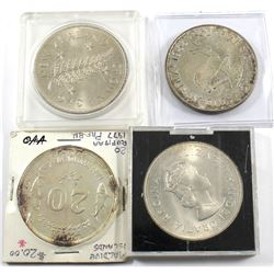 1949 New Zealand Crown, 1955 South Africa 5 Shilling, 1959 Bermuda One Crown, 1977 Republic of Maldi