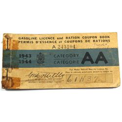 1943-1944 Gasoline Coupon Booklet
