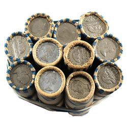11x Canada Mixed Dated Rolls of 5-cents From 1948-1964. 402 pcs