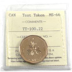 Test Token Canada TT-100.22 ICCS Certified MS-66