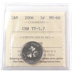 Test Token 2006, TT-5.7 ICCS Certified MS-66