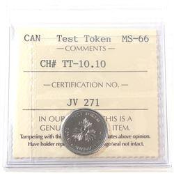 Test Token, TT10.10 ICCS Certified MS-66