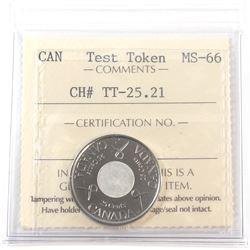 Test Token, TT-25.21 ICCS Certified MS-66
