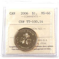 Test Token, TT-100.14 ICCS Certified MS-66