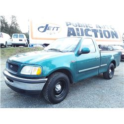 F2 --  1998 FORD F150 EXT CAB , Green , 277504  KM's