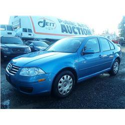 """A2 --  2008 VW JETTA CITY  , Blue , 338214  KM's """"NO RESERVE"""""""