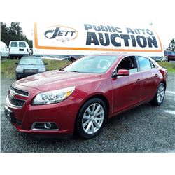 D5 --  2013 CHEVROLET MALIBU 2LT , Red , 190420  KM's