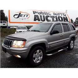 A7 --  2001 GRAND CHEROKEE LTD , Grey , 252133  KM's