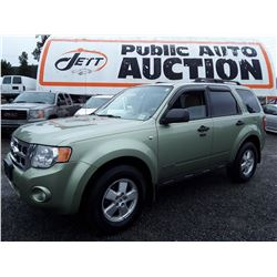F6 --  2008 FORD ESCAPE XLT  , Green , 208345  KM's