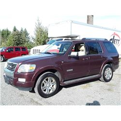 G4 --  2007 FORD EXPLORER LTD , Red , 170655  KM's