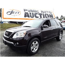 G2 --  2008 GMC ACADIA SLT-1 , Red , 158528  KM's