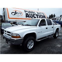 G3 --  2001 DODGE DAKOTA QUAD , White , 181797  Miles