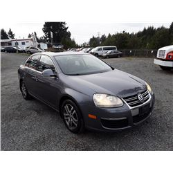 E4 - 2006 VW JETTA TDI SEDAN, GREY, 270,660 KMS