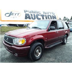 A3 --  1999 MERCURY MOUNTAINEER , Red , 222,183 MILES  KM's