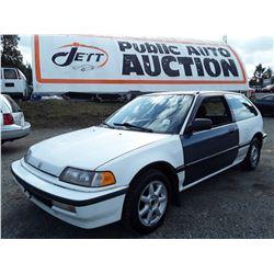 A11 --  1991 HONDA CIVIC DX , White , 364603  KM's