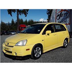 "A3 --  2002 SUZUKI AERIO  , Yellow , 150123  KM's ""NO RESERVE"""