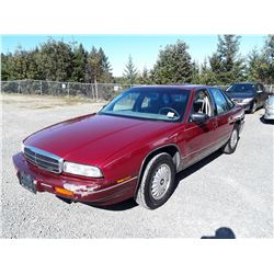 "A12A --  1994 BUICK REGAL CUSTOM , Red , 289390  KM's ""NO RESERVE"""