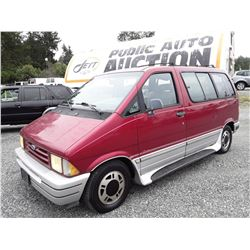 A4 --  1994 FORD AEROSTAR , Red , 268835  KM's