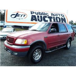 A7 --  2001 FORD EXPEDITION XLT , Red , 301118  KM's