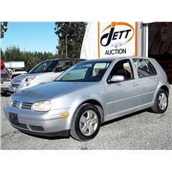 "A12B --  2003 VW GOLF GLS , Grey , 197918  KM's ""NO RESERVE"""