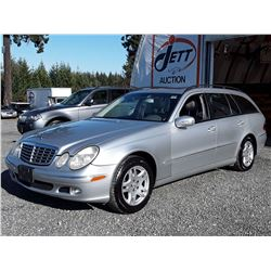 D5 -- 2004 MERCEDES E320S 4-MATIC WAGON, SILVER, 168,423 KMS
