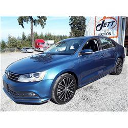 E5 --  2015 VW JETTA TDI  , Blue , 110665  KM's