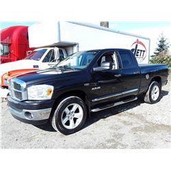 H2 --  2008 DODGE RAM 1500 ST  , Black , 338925  KM's