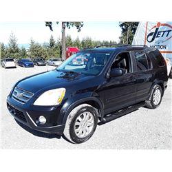 I2 --  2006 HONDA CR-V SE  , Black , 281892  KM's