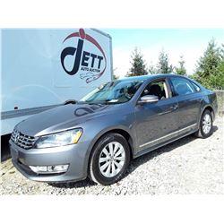 E4 --  2013 VW PASSAT S TDI, GREY, 113,697 KMS