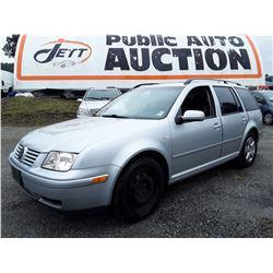B1 --  2003 VW JETTA GLS , Silver , 279805  KM's