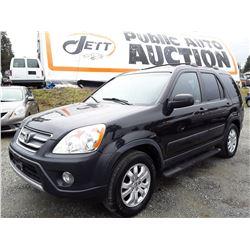 G3 --  2006 HONDA CRV LX, BLACK, 268,885 KMS