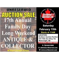 FEBRUARY 15th 2020 ANTIQUE/COLLECTOR AUCTION