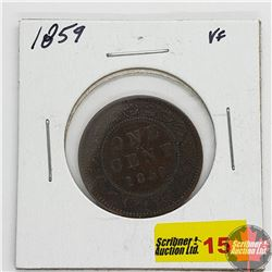 Canada Large Cent : 1859