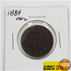 Canada Large Cent : 1884, Obv 2
