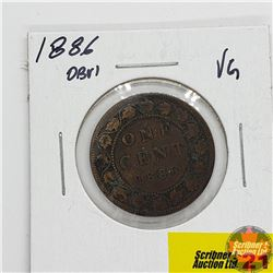Canada Large Cent : 1886, Obv 1