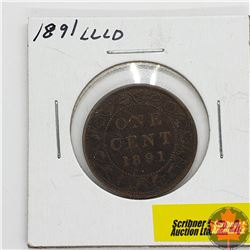 Canada Large Cent : 1891 LLLD