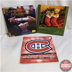 RCM (3): Congratulations Gift Set 2004; Season's Greetings Holiday Gift Set 2005; Season Montreal Ca