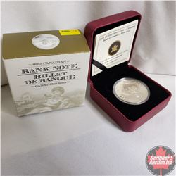 RCM 2013 $5 Fine Silver Coin - Canadian Bank of Commerce Bank Note (99.99%)