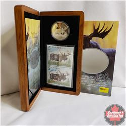 RCM The Majestic Moose $5 Limited-Edition Stamp & Proof Coin Set (99.99%)