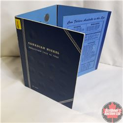 Canadian Nickel Collection - Whitman Folder (44 Coins): Missing 1925 & 1926 Far 6