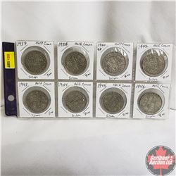 Great Britain Half Crowns - Silver : 1937; 1938; 1940; 1942; 1943; 1944; 1945; 1946
