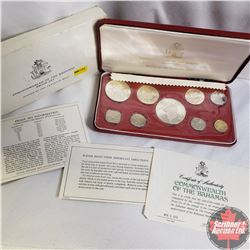 Commonwealth of the Bahamas Proof Set 1974 Minted at the Franklin Mint