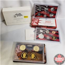 2007 USA Mint Silver Proof Set & 2007 USA Mint Presidential $1 Proof Set