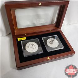 2012 & 2013 Canada $10 Chinese Zodiac Coins .999 Silver (Quadrums/Showcase Box)