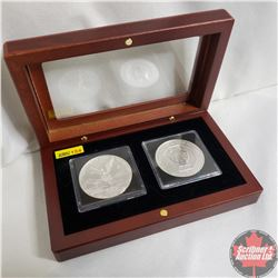 2017 (2) Michael the Archangel Coins .999 Silver (Quadrums/Showcase Box)