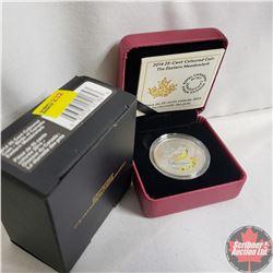 RCM 2014 Twenty Five Cent Coloured Coin The Eastern Meadowlark